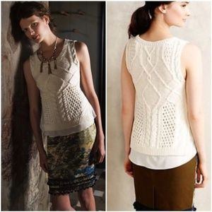 Anthropologie Moth Neve Layered Sweater Tank Top S